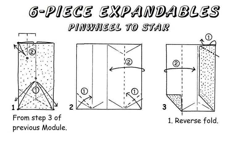 Expandable Pinwheel to Star