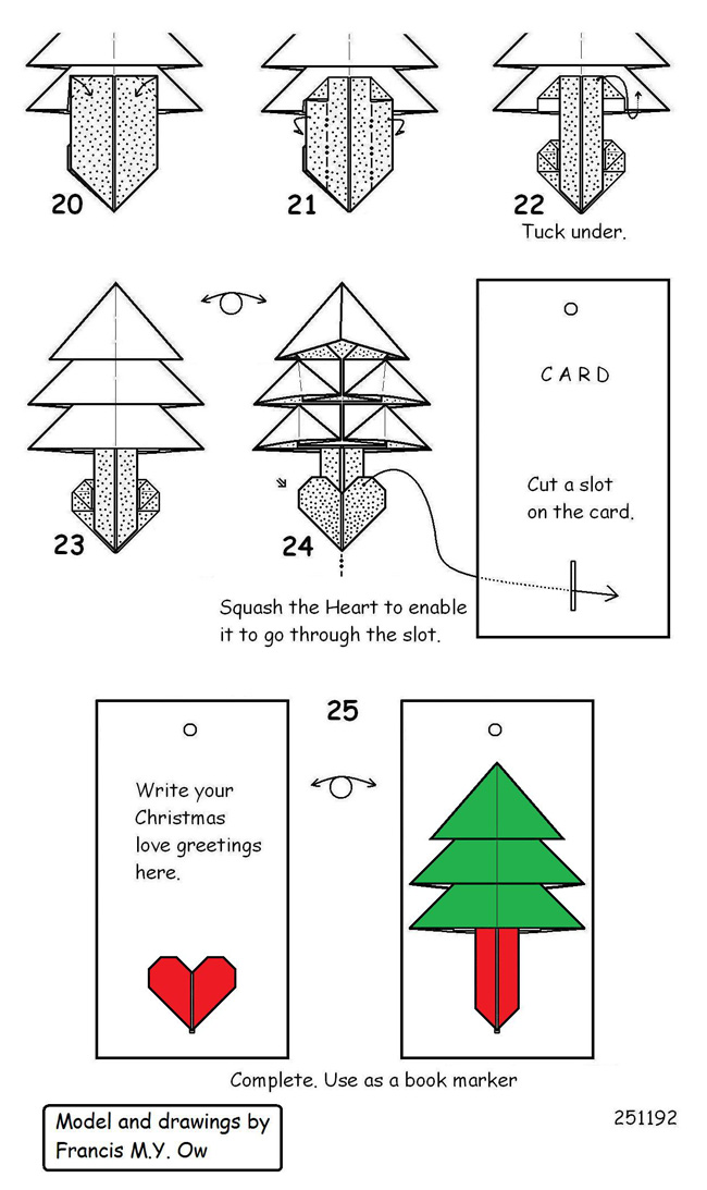 francis ow s origami diagrams heart christmas tree rh owrigami com christmas tree diagram excel christmas tree diagram geology